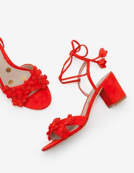 Red Pop Flora Mid Heels