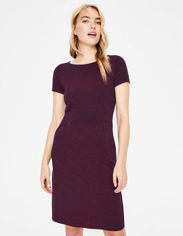 Navy Spotty Buttercup Phoebe Jersey Dress