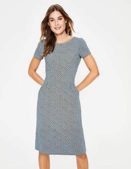 Grey Spotty Buttercup Phoebe Jersey Dress