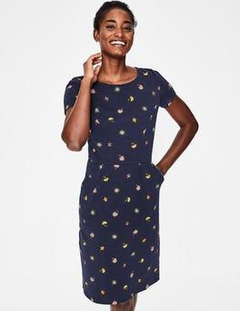 Navy Floral Medley Phoebe Jersey Dress