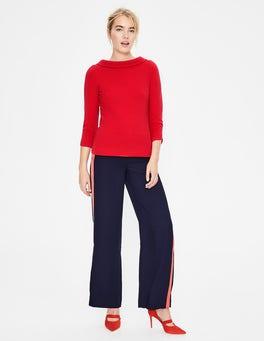 Weihnachtssternrot/Bunt, Gestreift Sarah Ottoman-Shirt