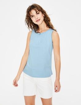 Heron Blue Frill Jersey Vest
