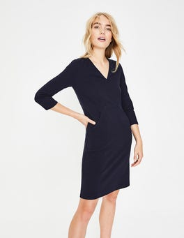 Navy Bronte Ottoman Dress