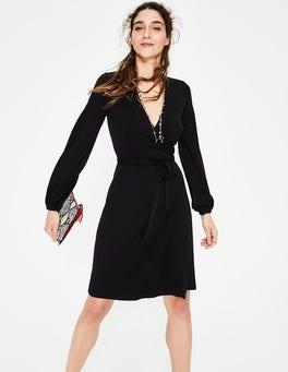 Black Elodie Jersey Wrap Dress