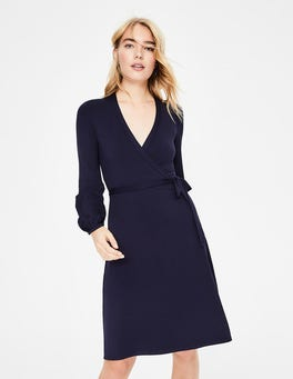 Navy Elodie Jersey Wrap Dress