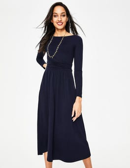 Navy Lucille Jersey Midi Dress