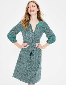 Indian Ocean Island Bloom Heidi Jersey Dress