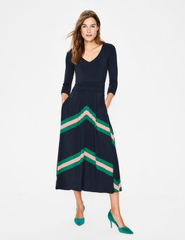 Navy Juliet Jersey Midi Dress