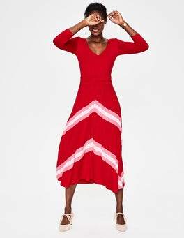 Poinsettia Juliet Jersey Midi Dress