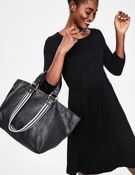 Black Talia Jersey Dress