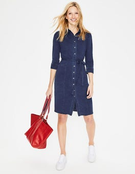 Mid Vintage Denim Tara Jersey Shirt Dress