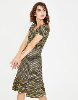 Happy Diamond Lattice Melissa Jersey Dress