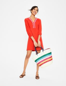 Red Pop//Candy Stick Trim Carina Jersey Tunic