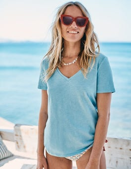 The Cotton V-neck Tee