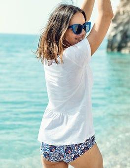 Das Baumwoll-T-Shirt mit Rückendetail