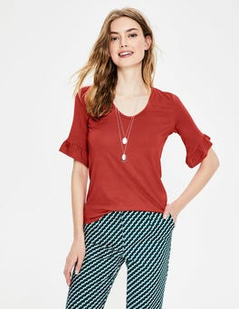 Conker Supersoft Frilled Cuff Tee