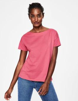T-shirt ultra-doux à col large