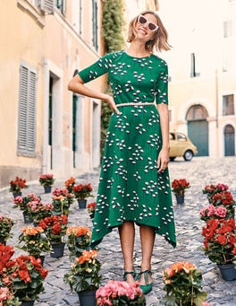 Robe midi Leonie en point de Rome