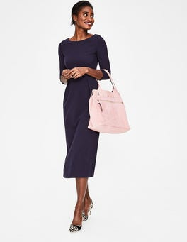 Navy Alma Ottoman Midi Dress