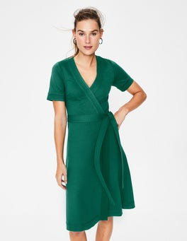 Forest Mira Ponte Wrap Dress