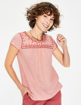 Chalky Pink Elisabeth Jersey Top
