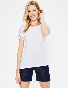 White Isabella Broderie Back Top