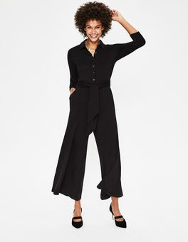 Black Beatrice Jersey Jumpsuit