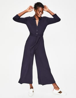Navy Beatrice Jersey Jumpsuit