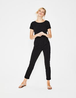 Black/Soft Truffle Spot Caitlin Jersey Jumpsuit