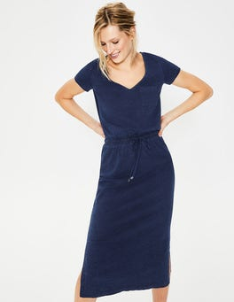 Mid Vintage Denim Lola Jersey Midi Dress