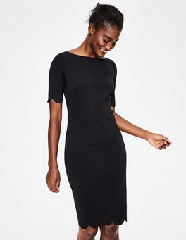 Black Emma Ponte Dress