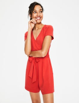 Red Pop Caroline Jersey Romper