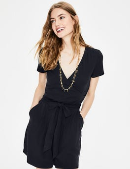 Navy Caroline Jersey Playsuit