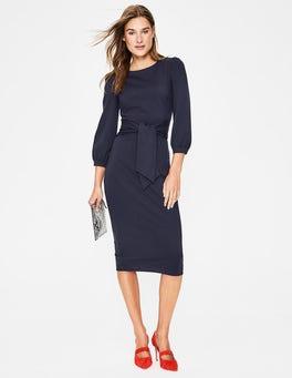 Navy Josephine Ponte Dress