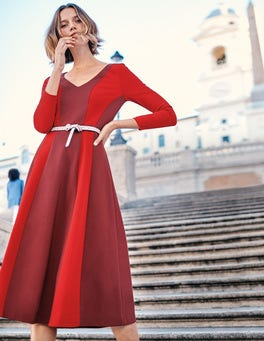 Robe midi Erin en point de Rome