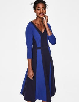 Navy Erin Ponte Midi Dress