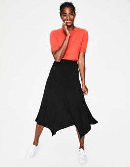 Black Evelyn Jersey Skirt