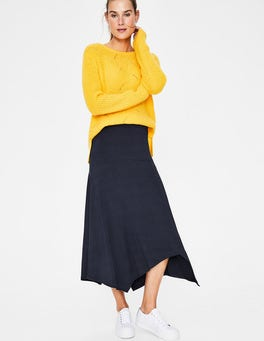 Navy Evelyn Jersey Skirt