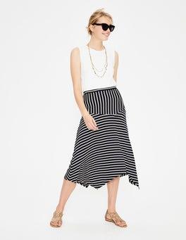 Navy/Ivory Stripe Evelyn Jersey Skirt