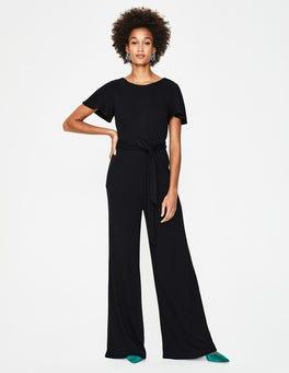Black Camille Ponte Jumpsuit