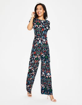 Navy Folk Meadow Camille Ponte Jumpsuit