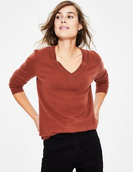 Cashmere Relaxed VNeck Sweater