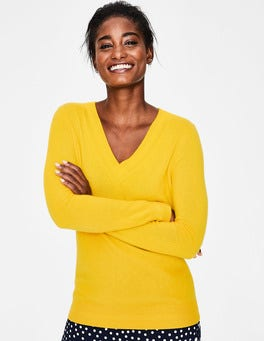 Happy Cashmere Relaxed VNeck Sweater