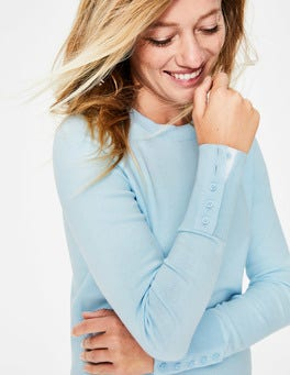 Pastel Blue Tilda Crew Neck Jumper