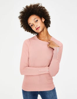 Chalky Pink Tilda Crew Neck Sweater