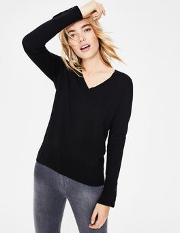 Black Tilda V-neck Jumper