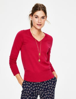 Dark Rose Tilda V Neck Sweater