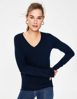 Navy Tilda V Neck Sweater