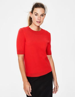 Red Pop Rachel Knitted Tee