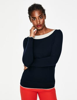 Navy Louisa Sweater